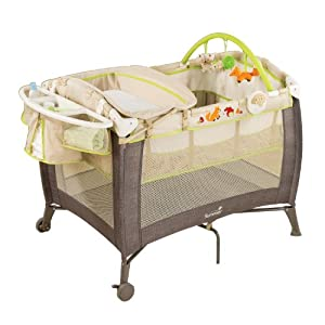 Summer Infant Grow with Me Playard and Changer, Fox and Friends, Espresso
