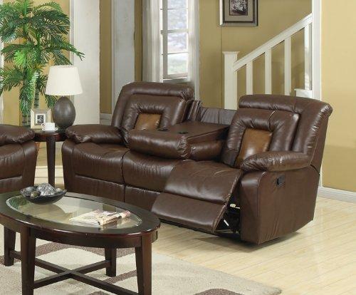 Dual Reclining Cinema Sofa Seat W Drop Console Heavy Duty