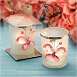 Candle Holder Crystal Butterfly Pink (18 per order) Wedding Favors