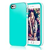 iPhone 5s Case,iPhone 5 Case,[2PCS HD Screen Protectors]by Ailun,Shock-Absorption Bumper,Anti-Scratch,Fingerprint&Oil Stain Shell Soft Dual Color TPU Back Cover,Siania Retail Package[WhiteGreen]
