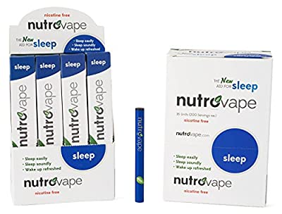Worlds First Inhalable Sleep Aid | With Natural Melatonin, Passionflower, Chamomile, 200 Inhalations - 60-Day Money-Back Guarantee | Sleeping Pill Alternative by nutrovape | Now With Longer Lasting Battery
