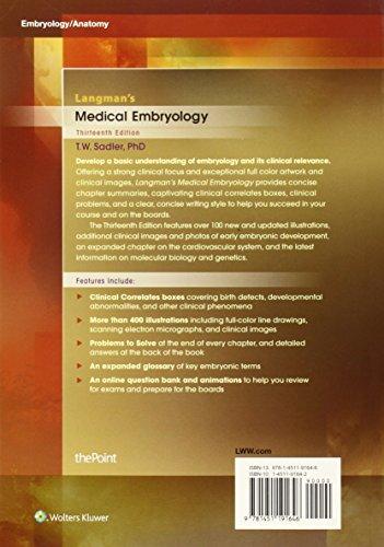 Langman's Medical Embryology (Longmans Medical Embryolgy)