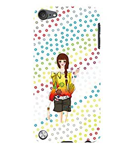PRINTVISA Cute Girl Case Cover for Apple iPod Touch 5
