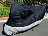 Light Weight Motorcycle cover (L). Fits up to 84″ length sport bike, dirt bike, small cruiser.
