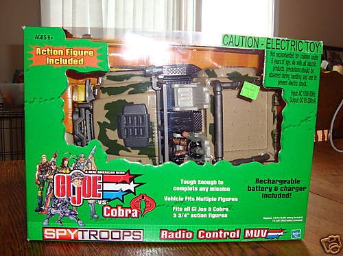 Buy Low Price Hasbro Gi Joe Vs Cobra MUV / Beachhead Radio Control Spy Troops Vehicle Figure (B001OTLZOQ)