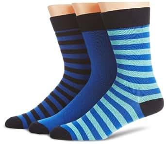 Levis Men's Keyport Calf Socks, Multicoloured (Dress/Snorkel Blue/Blue Radiance), Size 6 - 8.5