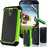 SUPERGETS� Samsung Galaxy S4 I9500 SIV TPU Hydro Gel Case Covers, Screen Protector, Touch Screen Stylus And Polishing Cloth