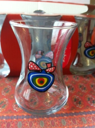 Pasabahce Evil Eye Tea Glass-6 Pc