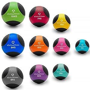 Medizinball »Medicus« / 1 - 10kg / Fitnessball / Gewichtsball / Leichte bis sehr schwere Gymnastikbälle in professioneller Studio-Qualität 6kg / orange