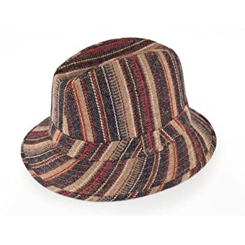 Hip Fedora hat in brown size medium