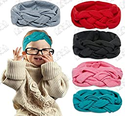 Beautiful Celtic Knot Headband Set by Zelda Matilda - 5 Piece Pack of Highest Quality Baby Headbands - Three Sizes Ensure the Perfect Fit - 100% Satisfaction Guarantee