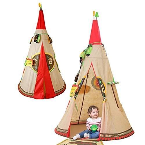 Kids Indian Teepee Tent Home Living Indoors Toys Pretend Play Children Outside by Indian Teepee Tent