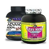 Advance 100% Whey Protein 2kg Vanilla & Lean Mass Gainer 1KG Banana Combo Offer