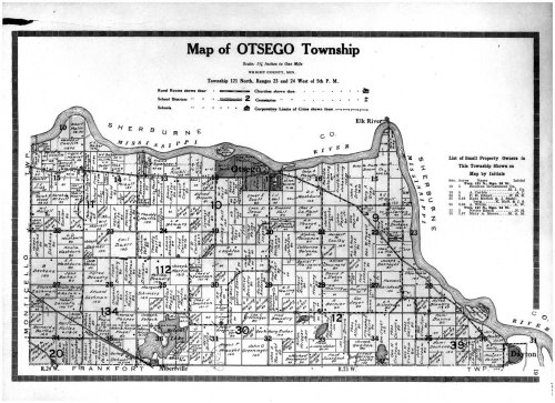Otsego Township, Albertville, Dayton, Wright County 1915, Minnesota, 1915 Old Map Reproduction