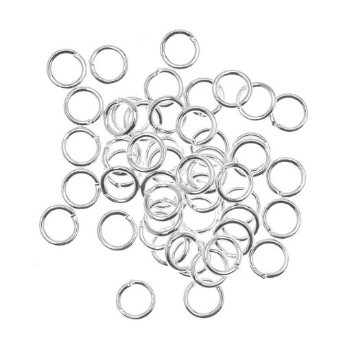Beadaholique 50-Piece Open Jump Rings, 6mm, 18-Gauge, Silver (Open Jump Rings compare prices)