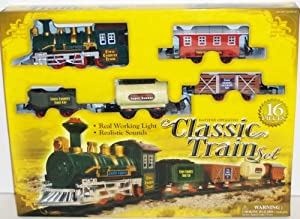 Classic Train Set Battery Operated 16 Pieces