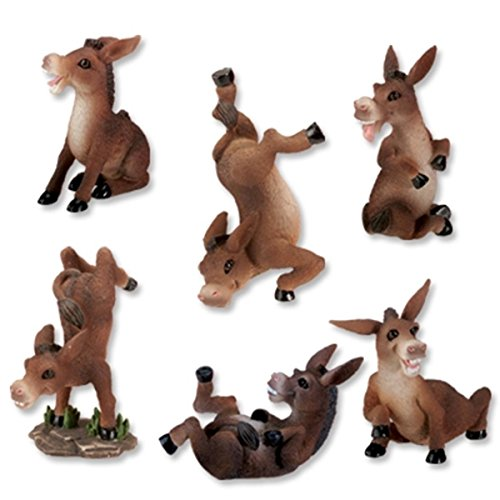Donkeys Collectible Figurine, Set of 6