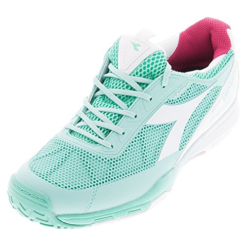 Diadora Women's Speed Pro Evo II Tennis Shoes (Green Cockatoo/White) (7 B(M) US)