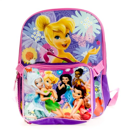 52ffefc6ec7 Disney FAIRIES Tinkerbell BACKPACK WITH LUNCH box - LiamCarrAYpz