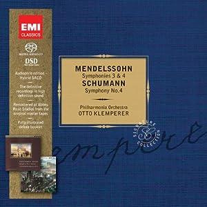 Mendelssohn : Symphonies, n° 3 et 4 / Schumann : Symphonie n°4