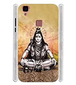 Lord Shiv Bagwan Soft Silicon Rubberized Back Case Cover for Vivo V3