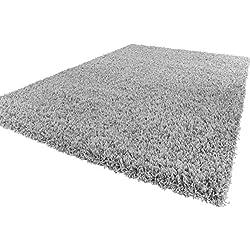 Shaggy Hochflor Langflor Teppich Sky Einfarbig in Grau, Grösse:120x170 cm