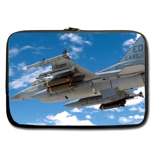 "F Falcon Armed To The Teeth With Missles 15"" Inch Laptop Sleeve Notebook Computer Netbook Soft Neoprene Sleeve Bag Case"