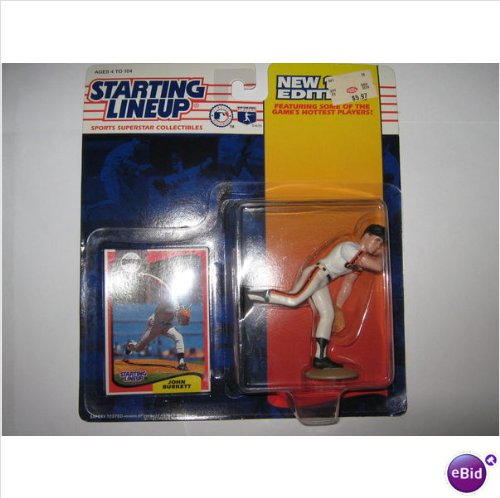 "4"" John Burkett of the San Francisco Giants Action Figure - Major League Baseball New 1994 Edition Starting Lineup Sports Superstar Collectible - 1"
