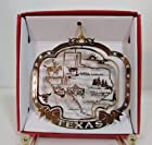 Texas State Christmas ORNAMENT Souvenir Gift Dallas San Antonio Houston Austin +More