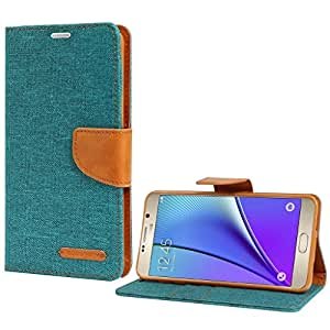 Online Street Premium Drop Protection Wallet Flip cover For Micromax Canvas Nitro / A311 - (Matte Green)