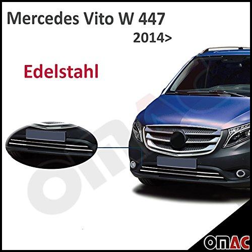 mercedes-vito-w447-dal-2014-nuovo-dis-cromo-anteriore-modanatura-acciaio-inossidabile-2tlg