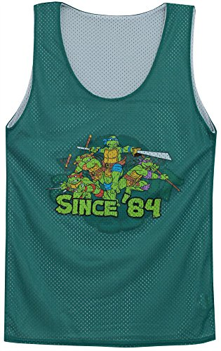 Teenage Mutant Ninja Turtles TMNT Reversible Mighty Fine Adult Tank Top Jersey