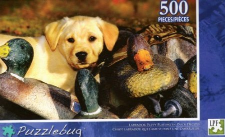 Labrador Puppy Playing in Duck Decoys - Puzzlebug - 500 Pc Jigsaw Puzzle - NEW