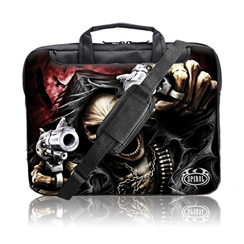 "TaylorHe Spiral Direct Collection 15"" 15,6"" Borsa in Nylon per notebook borsa a tracolla per PC portatili Laptop Sleeve Case con manici e tracolla tasche per accessori Samsung/Acer/Toshiba/Macbook Assassino, grim reaper"
