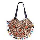 Ruff Moon Cut Handmade Designer Traditional Handbag