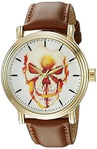 Marvel Men's W002530 Ghost Rider Analog Display Analog Quartz Brown Watch