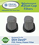 2 Dirt Devil F25 Allergen Filters Designed To Fit Dirt Devil Vacuum Cleaner F25 F-25 Filter; Versa Power Filter; Compare To Part # 2SV1102000, 3SV0980000; Designed & Engineered By Crucial Vacuum