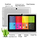 "Tagital® 7"" Android 4.2 Dual Core 4GB Capacitive Touch Screen A23 Tablet WiFi Dual Camera"