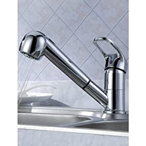 lightinthebox 174 post modern bathroom sink faucet with pull