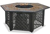 Hot Sale Uniflame GAD1374SP Lp Gas Outdoor Firebowl with Slate Tile Mantel