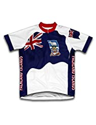 Falkland Island Flag Short Sleeve Cycling Jersey for Women
