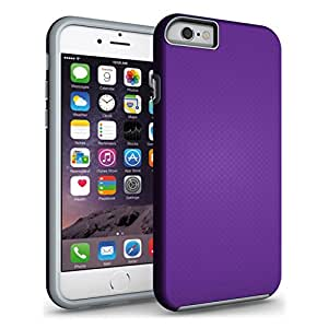 "iPhone 6 Case, INCART™[Dual Layer Series][Non-slip] iPhone 6s Case (4.7"") SOFT-Interior Scratch Protection Shock Proof Thin TPU + Hard Anti Slip Rugged Case Cover for iPhone 6/6s (Purple)"
