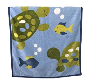 CoCaLo Turtle Reef Soft and Cozy Blanket (Discontinued by Manufacturer)