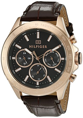Tommy-Hilfiger-Mens-1791225-Hudson-Analog-Display-Japanese-Quartz-Brown-Watch