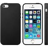 iProtect TPU Schutzhülle iPhone 5 5s Hülle Maserung schwarz