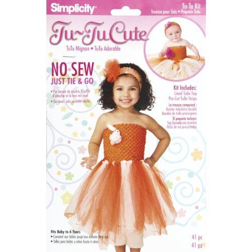 Tu-Tu Cute No-Sew Kit-Orange And White