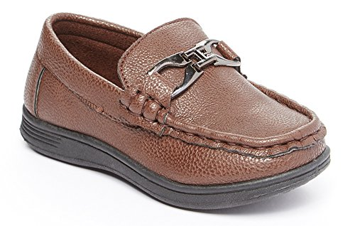 Boys Dress Loafer Driving Deck Shoe (Toddler/Little Kid/Big Kid) brown 10
