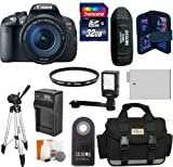 Canon EOS Rebel T5i DSLR Camera with EF-S 18-135mm f/3.5-5.6 IS STM Lens + 32GB Card + Battery & Charger + Case + Filter + Video Light + Tripod + Accessory Kit
