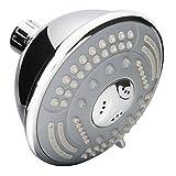ZhenDe Vintage Bathroom Wall-Mount 5-function Showerhead High Pressure Message Adjustable Brass Ball Fixed Shower Head Polished Chrome