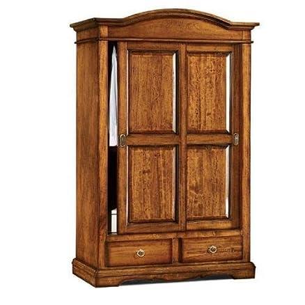 CLASSICO armadio legno mobile 2 ante scorrevoli per soggiorno salotto camera 296 122x59x200
